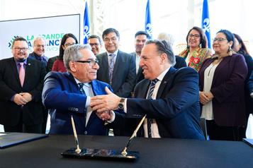 Développement économique: Québec et les Cris signent un protocole d'entente