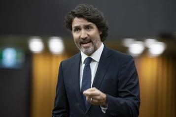 Trudeau accuse l'opposition de se livrer à des «jeux politiques» )