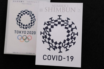 Le coronavirusintégré au logo des JO de Tokyo : pas apprécié du tout au Japon)