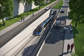 Le coussin du tramway de Québec perd des plumes