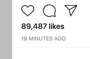 Instagram Tests de l'option de masquer les «likes» pour baisser la pression sociale)