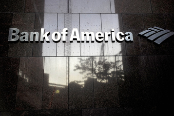 Les profits de Bank of America plongent de 54 %)