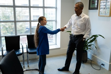 Greta Thunberg rencontre Barack Obama