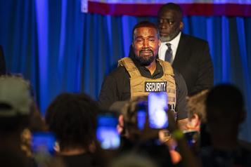 Kanye West prononce un discours antiavortement pour son premier rassemblement)