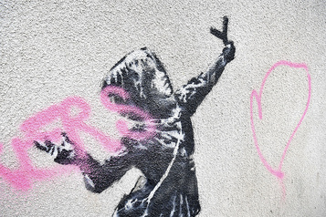 Un nouveau Banksy réalisé pour la Saint-Valentin vandalisé
