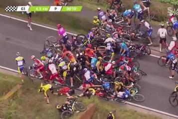 Cyclisme Boivin accepte le blâme pour une chute massive en Belgique)