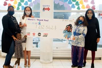 1,2 million pour l'Hôpital de Montréal pour enfants )
