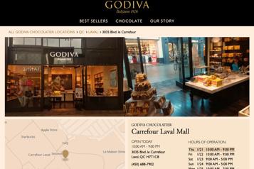 La COVID-19 laisse un goût amer à Godiva)