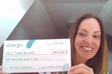 144 000$ pour les Cuisines Solidaires )