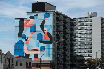 Une nouvelle murale pour l'Office municipal de l'habitation de Montréal