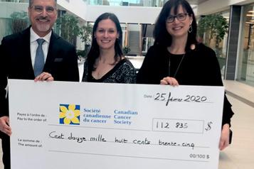113 000$ pour le cancer