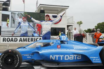 IndyCar Alex Palou fait coup double au Road America)