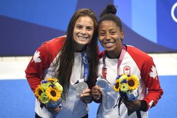 Plongeon Jennifer Abel et Mélissa Citrini-Beaulieu remportent l'argent)