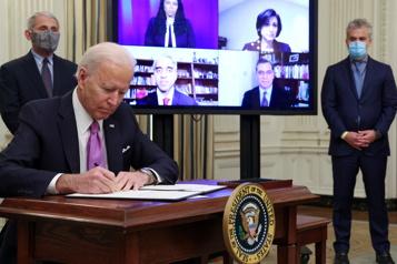 Masques et quarantaine Joe Biden promet une mobilisation comme «en temps de guerre» )
