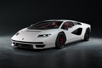 Lamborghini réédite salégendaire Countach )