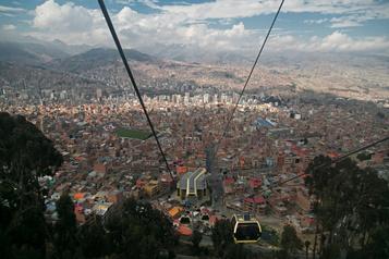 Dans le ciel de La Paz