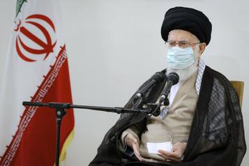 Iran Slogans anti-régime lors d'une manifestation )