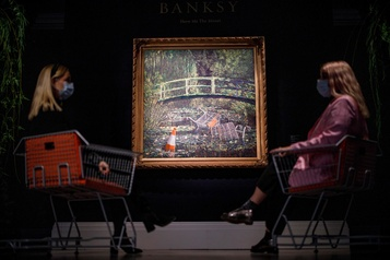 Show me the Monet de Banksy adjugé 13,1 millions)