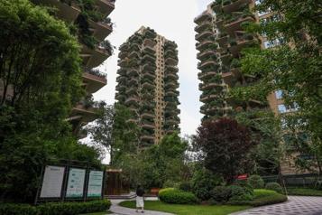 En Chine, une résidence disparaît sous sa «forêt verticale»)