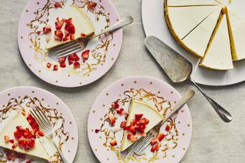 Gâteau au fromage à la gousse de vanille de Lesley Chesterman)