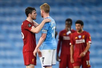 Le champion Liverpool corrigé par Manchester City, son dauphin)