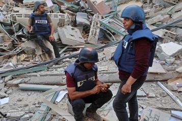 Bureaux d'Al-Jazeera et AP bombardés Un «crime de guerre» et une tentative de «faire taire les médias»)