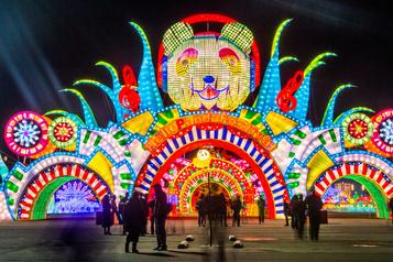 Féérie des Fêtes au festival de lanternes de New York
