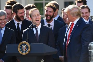 Les Blues visitent Trump et la Maison-Blanche