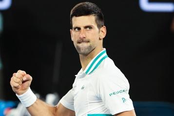 Internationaux d'Australie Novak Djokovic en finale pour la neuvième fois)