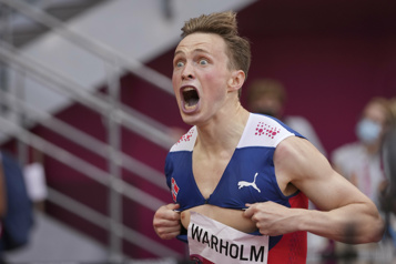 400m haies Le Norvégien Karsten Warholm établit un nouveau record du monde)