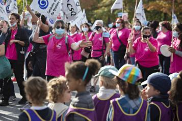 Grève dans les CPE Les éducatrices manifestent à Montréal