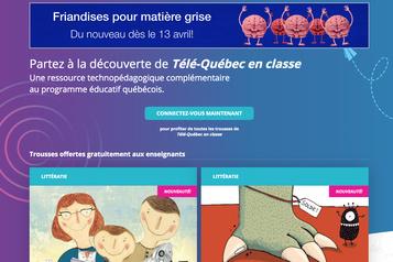 Écoles fermées: Télé-Québec entre en scène