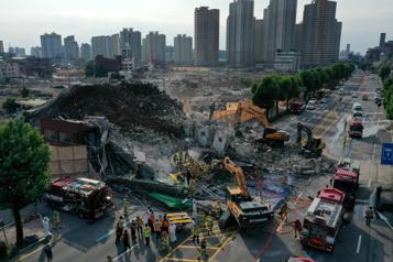 Corée du Sud Quatre morts dans l'effondrement d'un édifice)