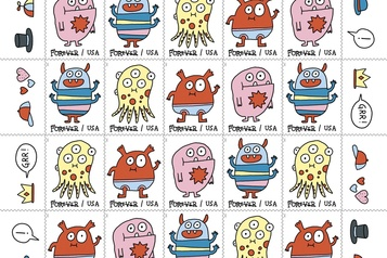 Elise Gravel illustre des timbres américains)