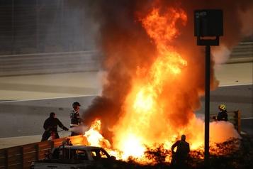 Accident au Grand Prix de Bahreïn  Le pilote français Romain Grosjean a «vu la mort de trop près»)