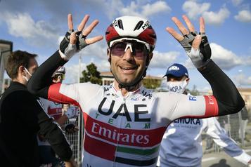Tour d'Italie Diego Ulissi gagne à Monselice, sa huitième victoire d'étape en carrière)