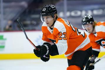 Persévérance, esprit sportif et dévouement L'attaquant des Flyers Oskar Lindblom gagne le trophée Bill-Masterton)