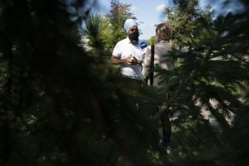 Jagmeet Singh conclut sa campagne québécoise à Sherbrooke)