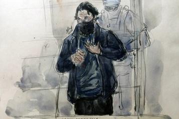 Procès du 13-Novembre «Face contre terre, vêtements maculés de sang» devant le Stade de France)