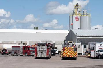Incendie dans une usine de Trois-Rivières: levée du confinement)