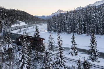Parcs nationaux Banff et Yoho La vitesse des trains, l'une des principales causes de morts d'animaux sauvages)