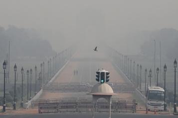 New Delhi s'étouffe sous un épais brouillard de pollution)