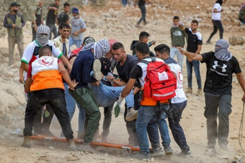 Cisjordanie occupée Heurts avec des soldats israéliens, 146blessés palestiniens )