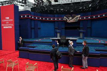 Ambiance électrique à quelques heures du débat Trump-Biden)