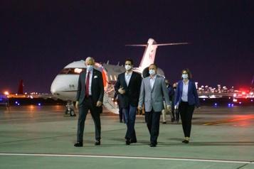 Les deux Michael libérés «Bon retour chez vous»)