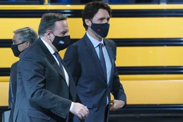 Legault félicite Trudeau)