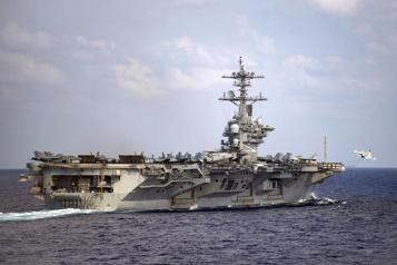 Tensions Chine-Taïwan Un porte-avions américain en mer de Chine méridionale)