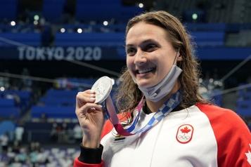LaPresse à Tokyo  Kylie Masse remporte la médaille d'argent à l'épreuve du 100 m dos )