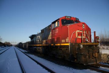 Le CN licencie temporairement environ 450travailleurs