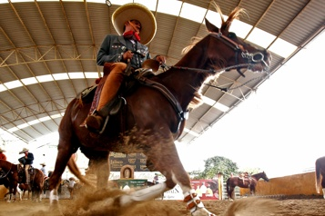 Le Mexique célèbre ses cowboys traditionnels malgré la pandémie)